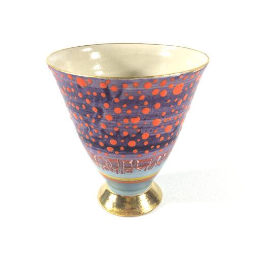 Keramikbecher Punktmuster (violett) Bild 1