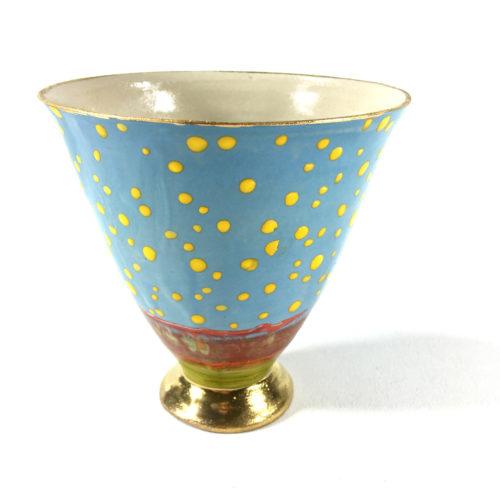 Keramikbecher Punktmuster (hellblau) Bild 1