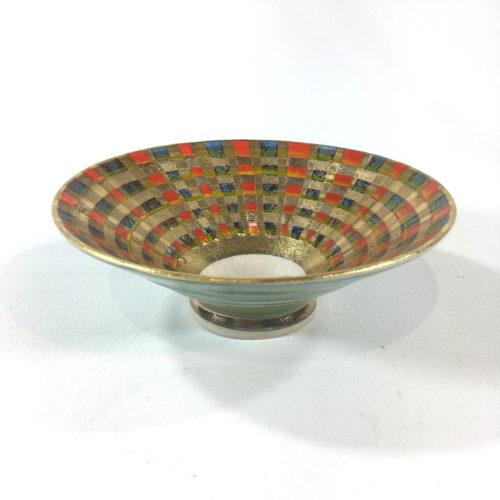 Keramikschälchen Tartanmuster Bild 1