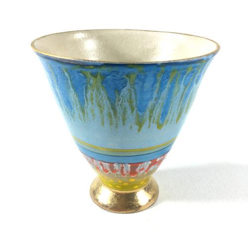 Keramikbecher Abstrakt (blau) Bild 1