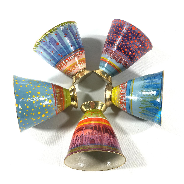 Keramikbecher Abstrakt (violett) Bild 2