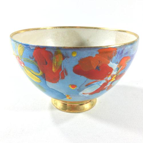 Keramikbowl Blütenmuster (blau) Bild 1