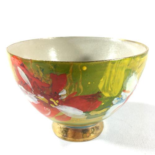Keramikbowl Blütenmuster (gelb) Bild 1