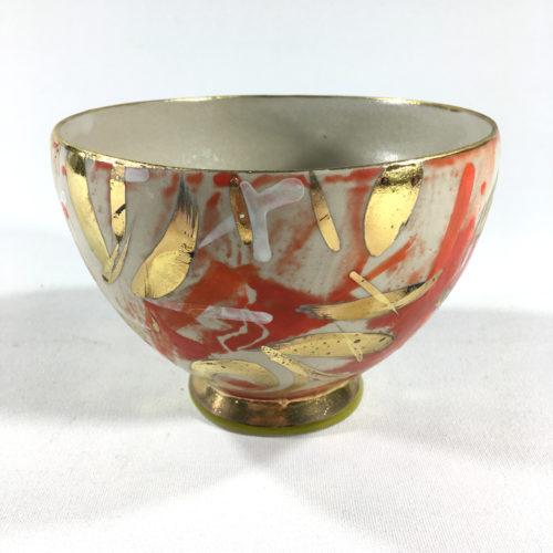 Keramikbowl Blütenmuster (gold) Bild 1