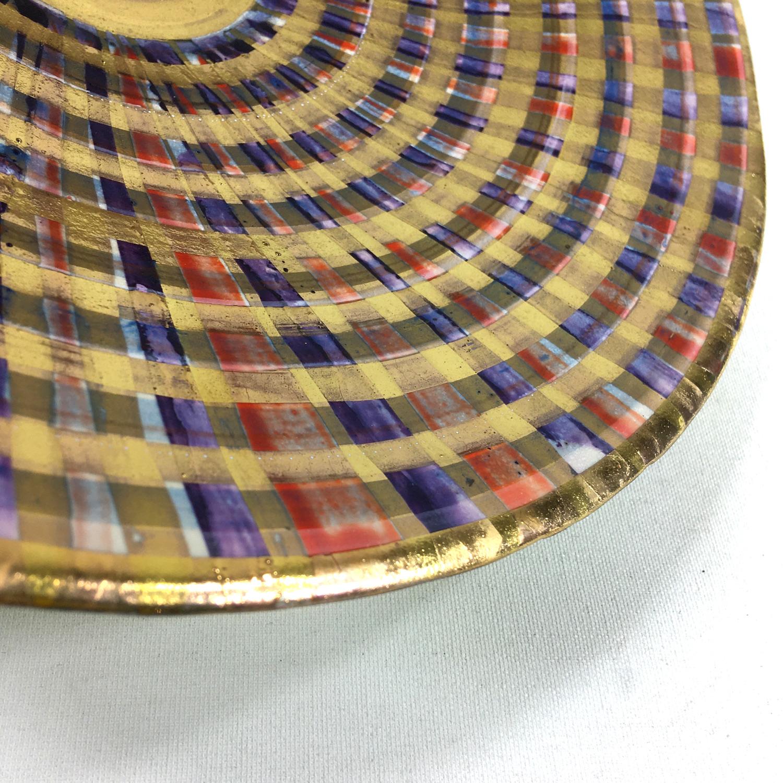 Keramikschale Tartan (rot) Bild 2