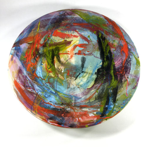 Keramikschale Abstrakt (hellblau) Bild 1