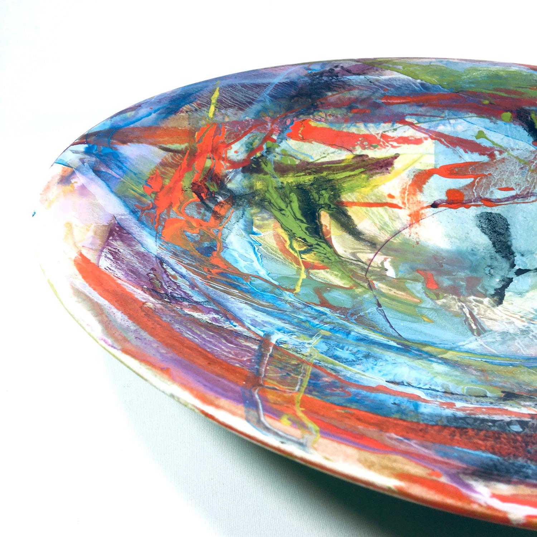 Keramikschale Abstrakt (hellblau) Bild 2