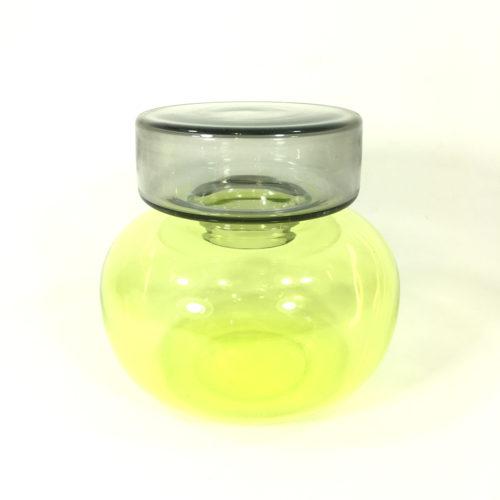 Kleines Doppelgefäß Dosis (grün/grau) Bild 1