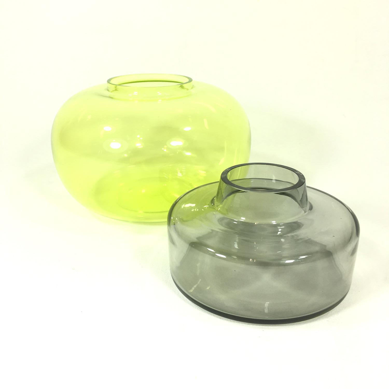 Kleines Doppelgefäß Dosis (grün/grau) Bild 2