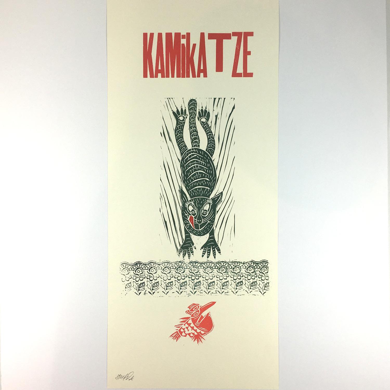 """""""Kamikatze"""" Mehrfarbdruck auf Munkenpapier Bild 2"""