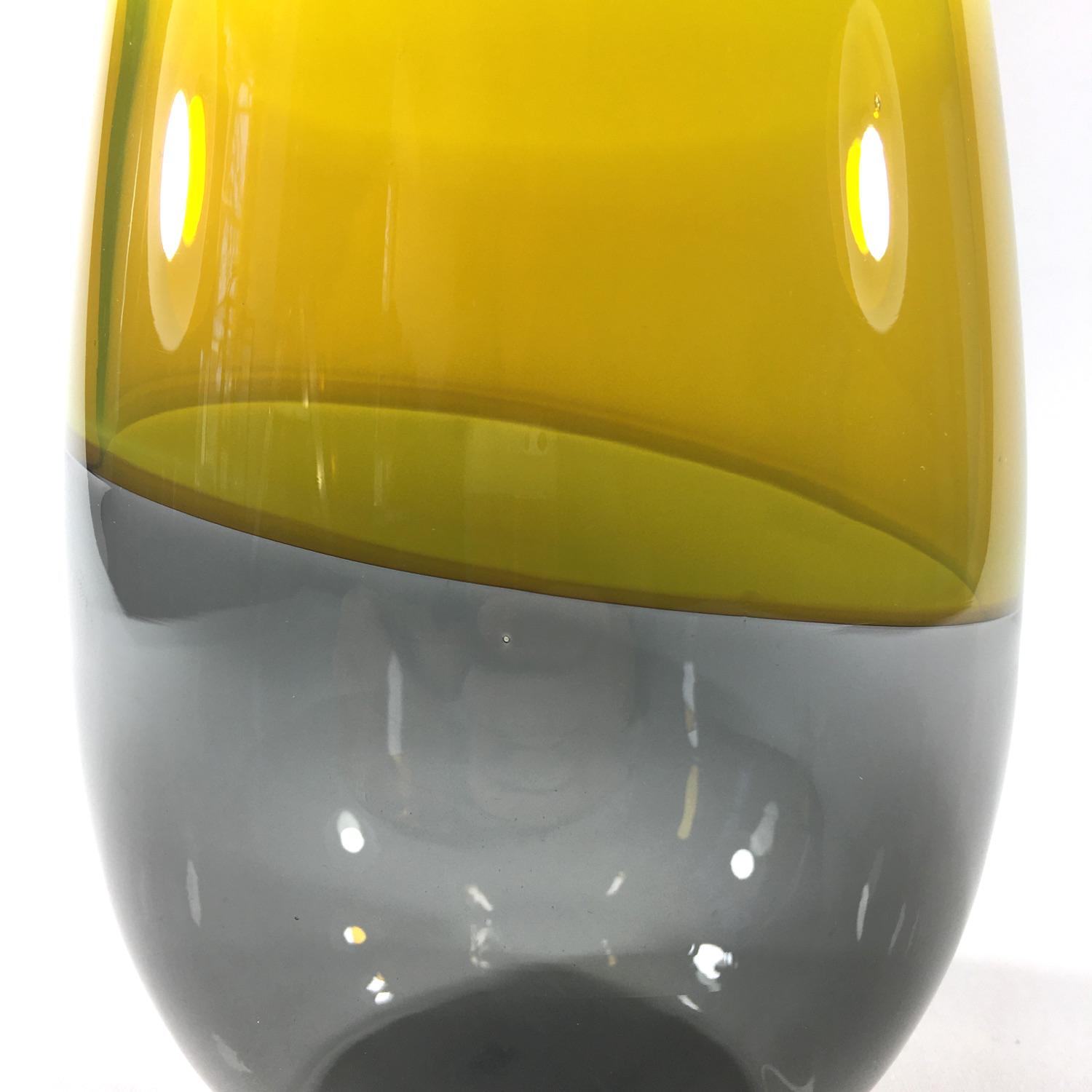 Incalmo Vase Knikk (grau/gelb) Bild 2