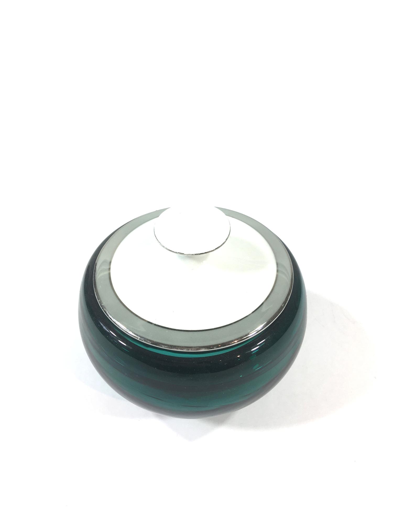 Glasdose mit Porzellandeckel Mint Bild 2