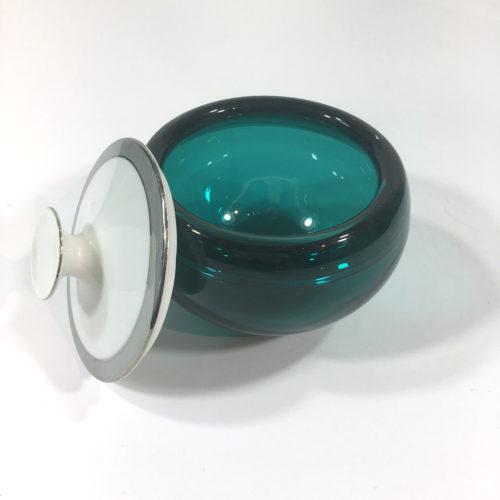 Glasdose mit Porzellandeckel Mint Bild 1
