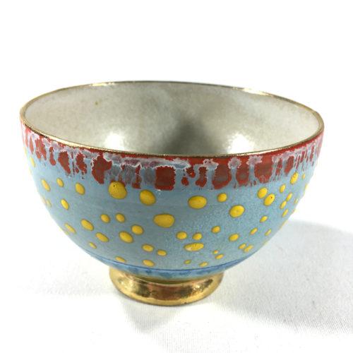 Keramikbowl Punktmuster (blau) Bild 1