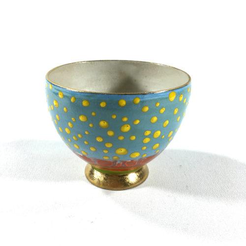 Keramikbowl Punktmuster (hellblau) Bild 1