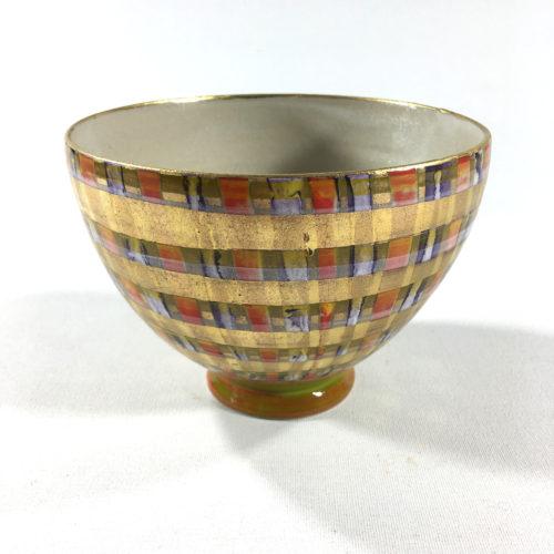 Keramikbowl Tartanmuster (rot) Bild 1