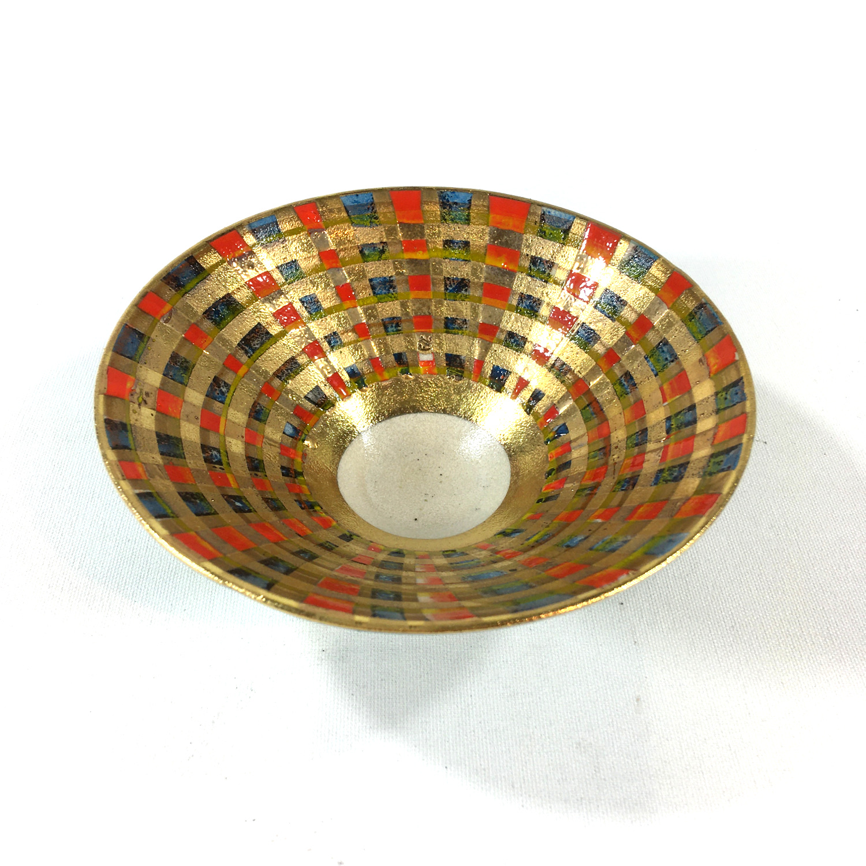 Keramikschälchen Tartanmuster Bild 2