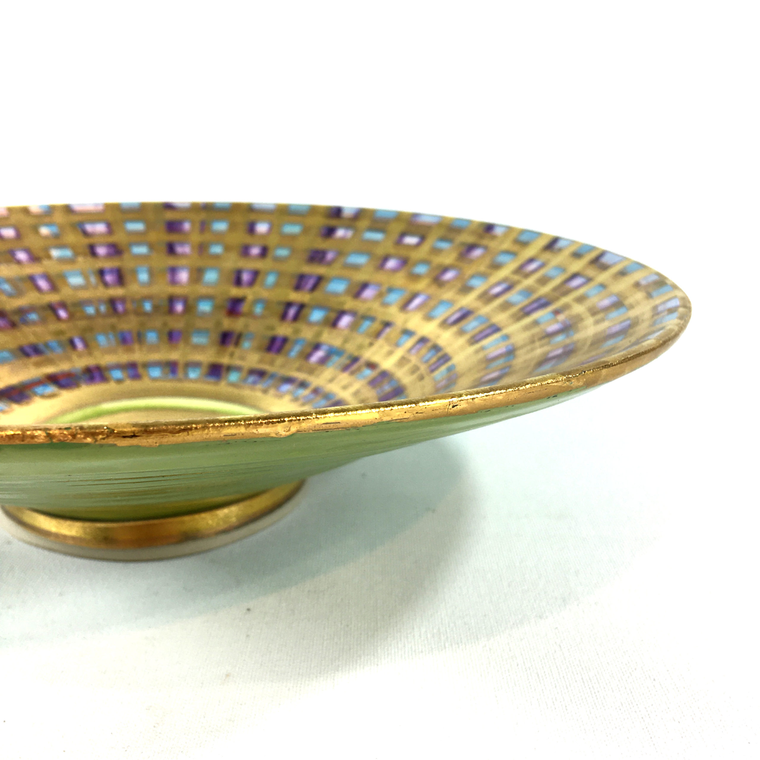 Keramikschale Tartan (blau) Bild 2