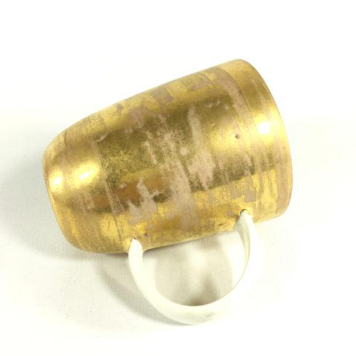 Goldenes Porzellanbecher-Unikat Bild 1