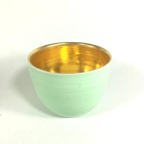 Schalen-Unikat mit goldenem Innengefäß (Mint) Bild 1