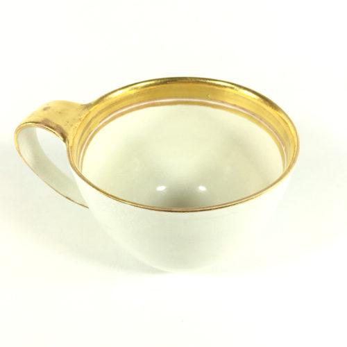 Porzellantassen-Unikat mit innerem Goldrand Bild 1