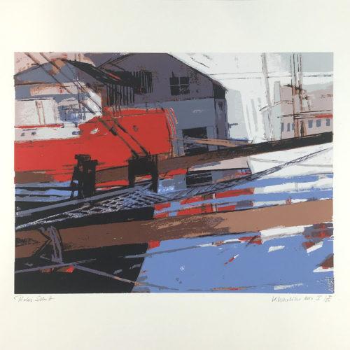 """""""Rotes Schiff"""" Siebdruck Bild 1"""