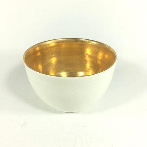 Schalen-Unikat mit goldenem Innengefäß Bild 1