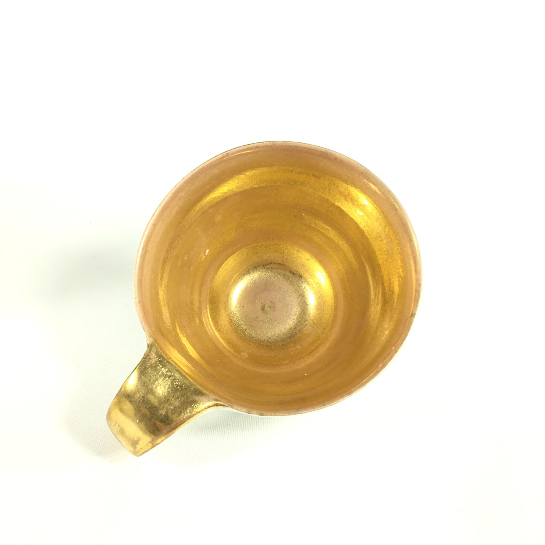 Porzellantassen-Unikat mit goldenem Innengefäß Bild 2