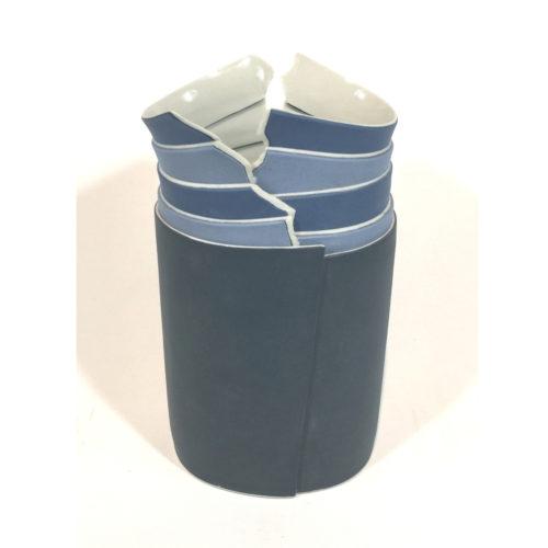 Bildvase (blau/beige) Bild 1