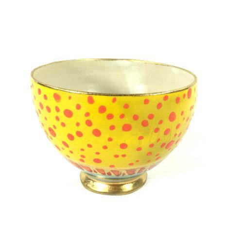 Keramikbowl Punktmuster (gelb) Bild 1