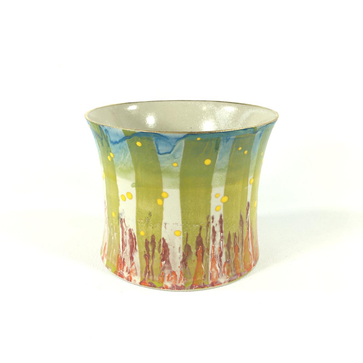 Keramikbecher Abstrakt (grün/weiß) Bild 2