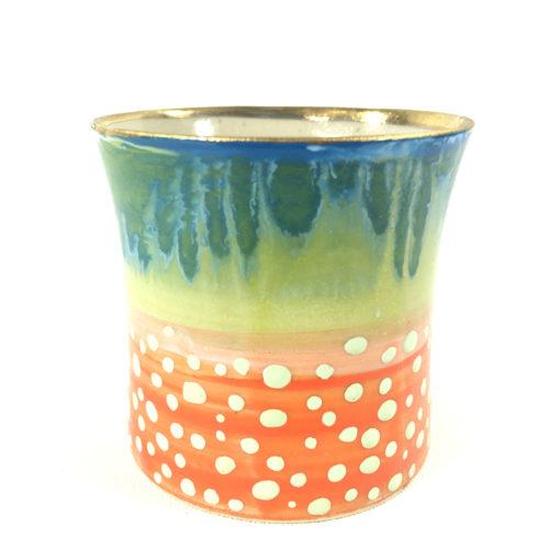 Keramikbecher Abstrakt mit Punkten Bild 1