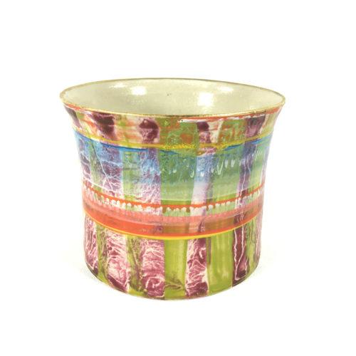 Keramikbecher Abstrakt (grün/violett) Bild 1