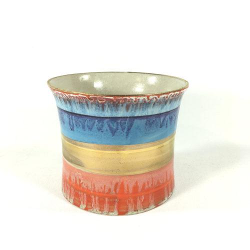 Keramikbecher Abstrakt (blau/rot) Bild 1