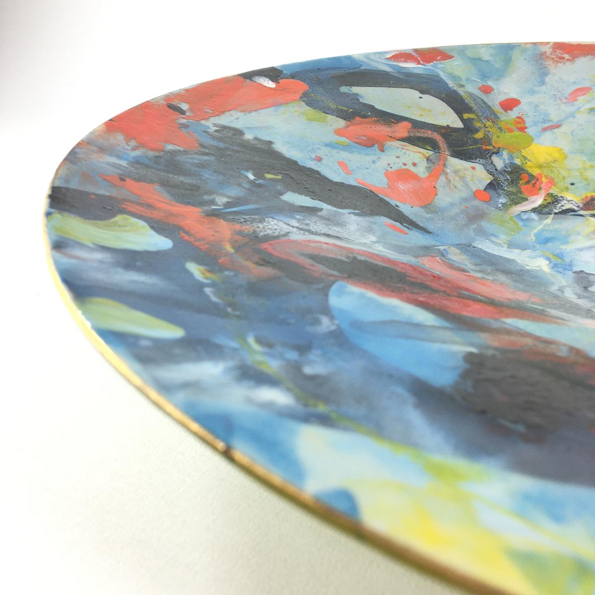 Keramikschale Abstrakt (blau) Bild 2
