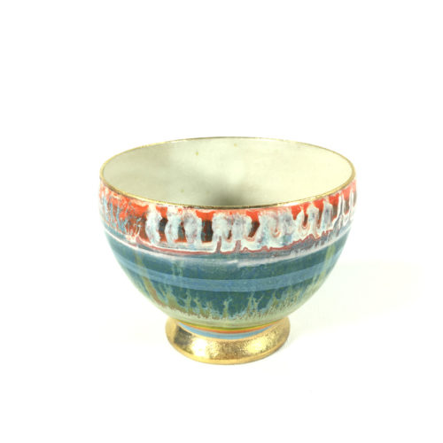 Keramikbowl Abstrakt (türkis) Bild 1
