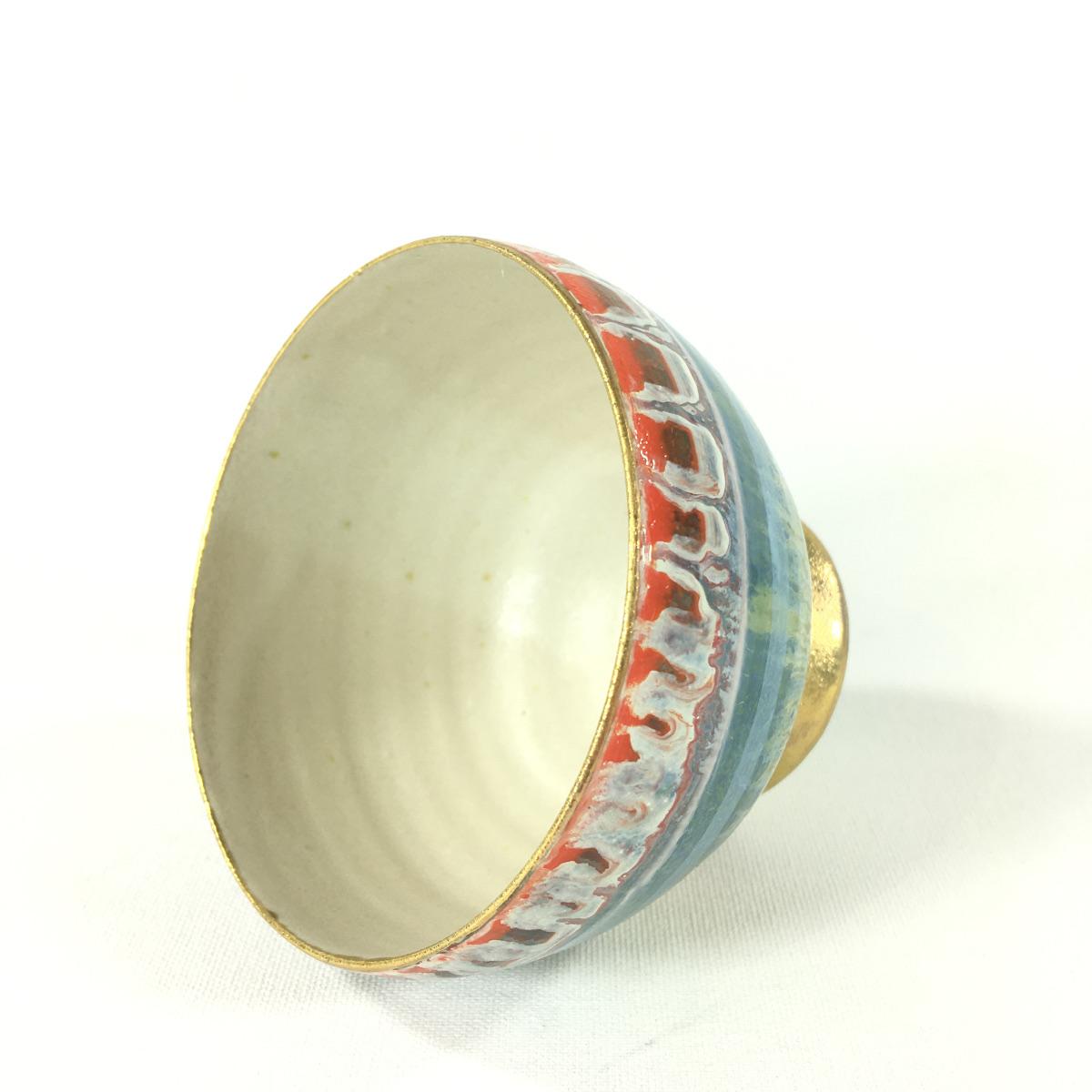 Keramikbowl Abstrakt (türkis) Bild 2