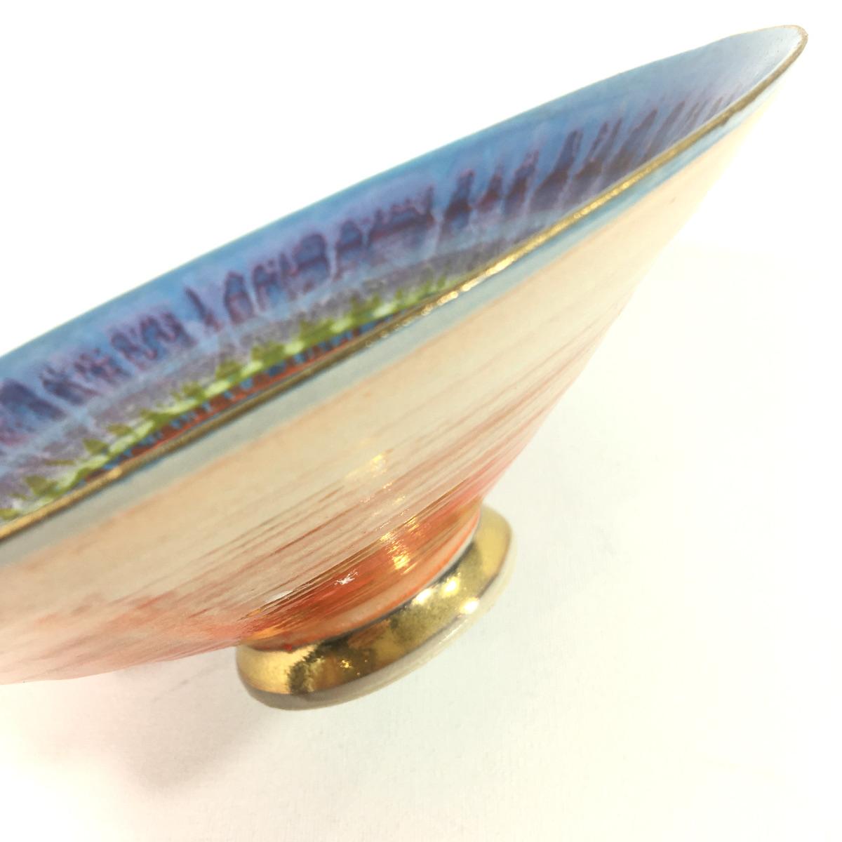 Keramikschale Abstrakt (violett) Bild 2