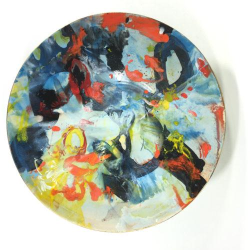 Keramikschale Abstrakt (blau) Bild 1