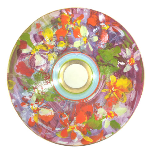 Keramikschale mit Blüten Bild 1