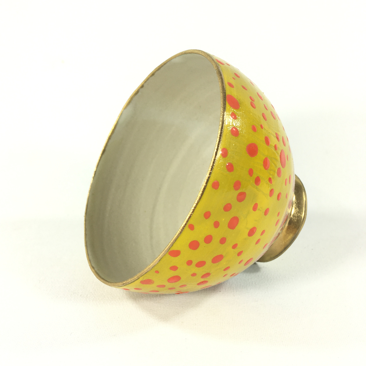 Keramikbowl Punktmuster (gelb) Bild 2