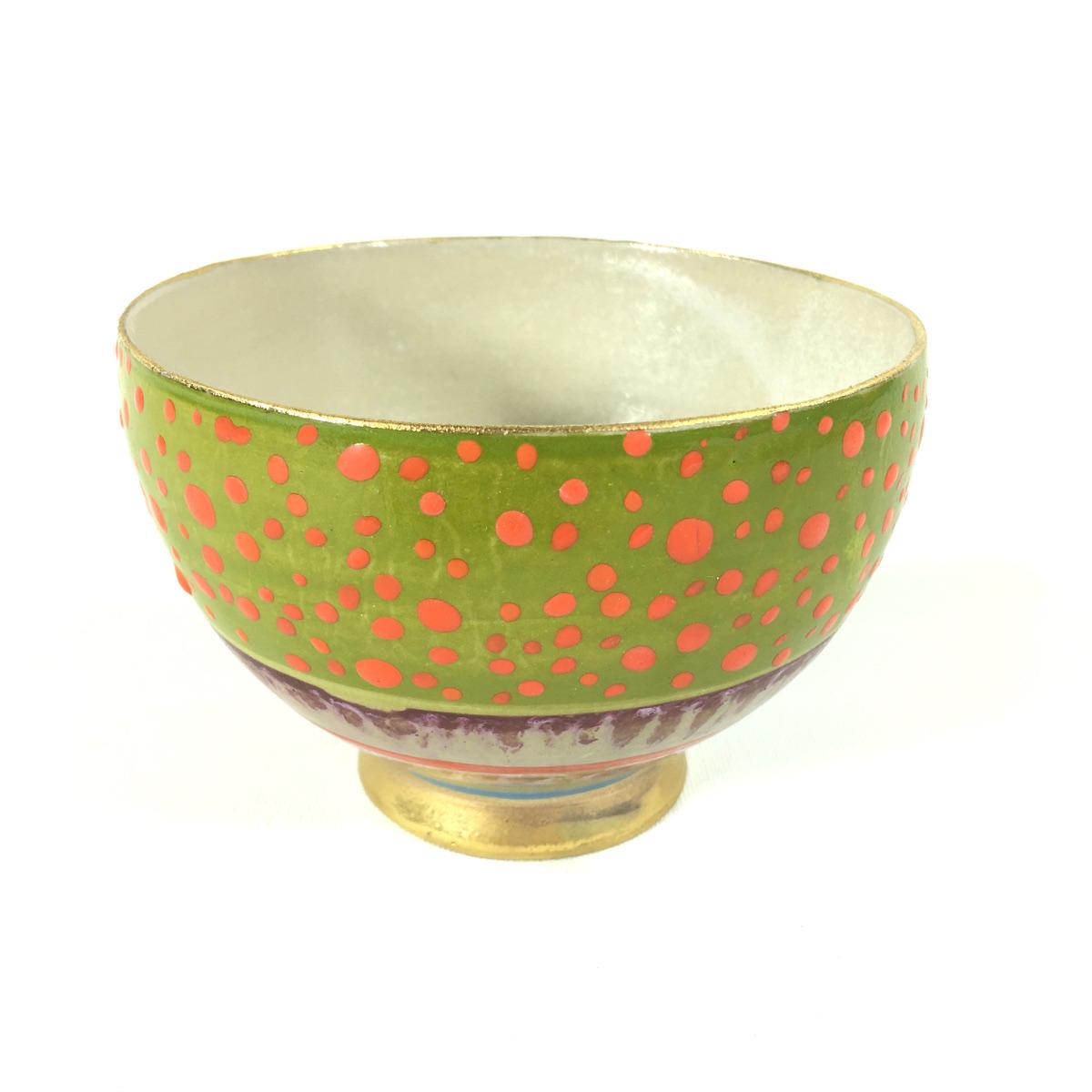 Keramikbowl Punktmuster (grün) Bild 2