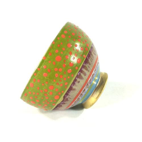 Keramikbowl Punktmuster (grün) Bild 1