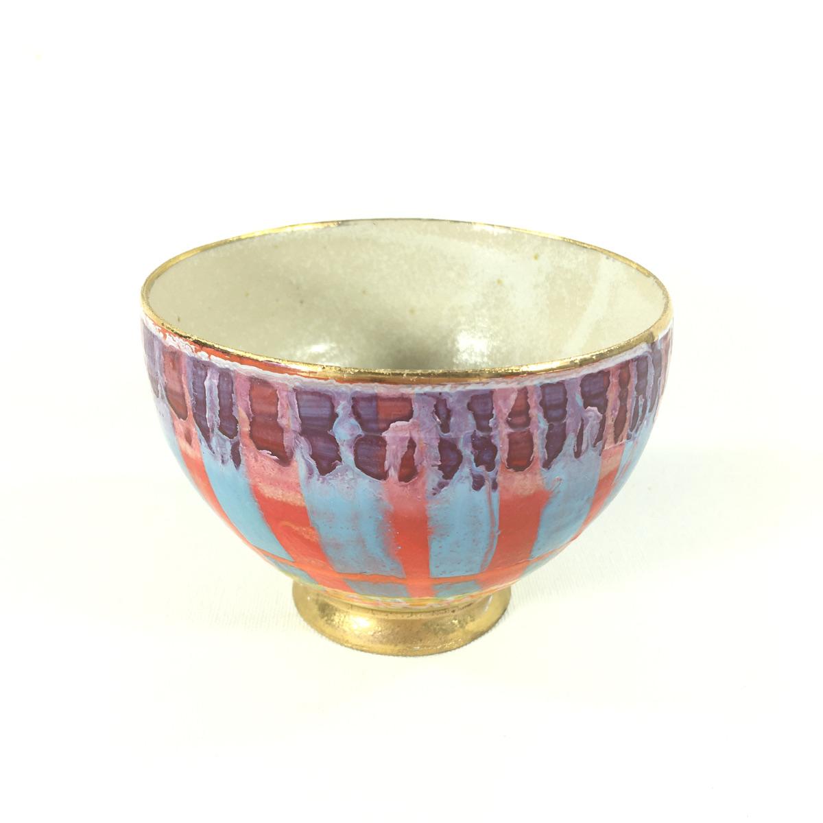 Keramikbowl Abstrakt (rot/blau) Bild 2