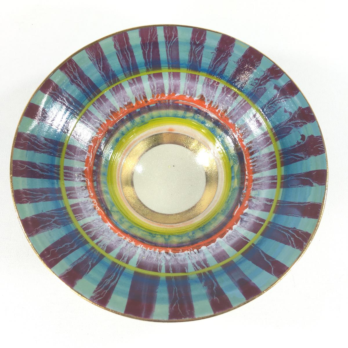 Keramikschale Streifen (violett) Bild 2