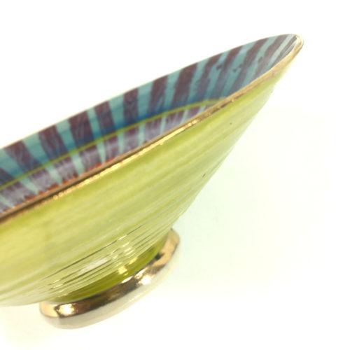 Keramikschale Streifen (violett) Bild 1