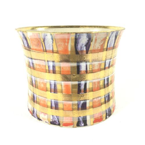 Keramikbecher Tartanmuster (violett/rot) Bild 1