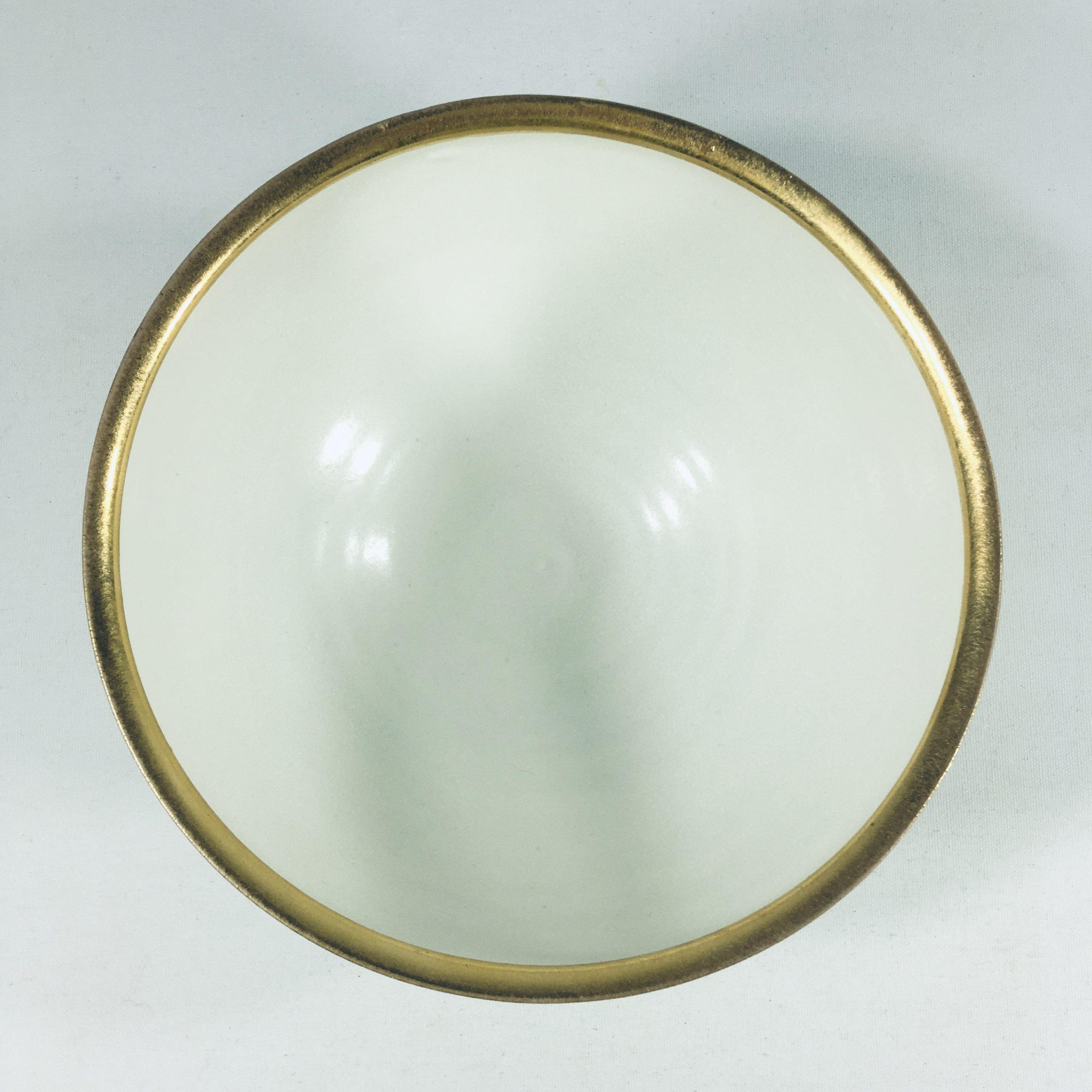 Porzellanschalen-Unikat mit feinem Goldrand Bild 2