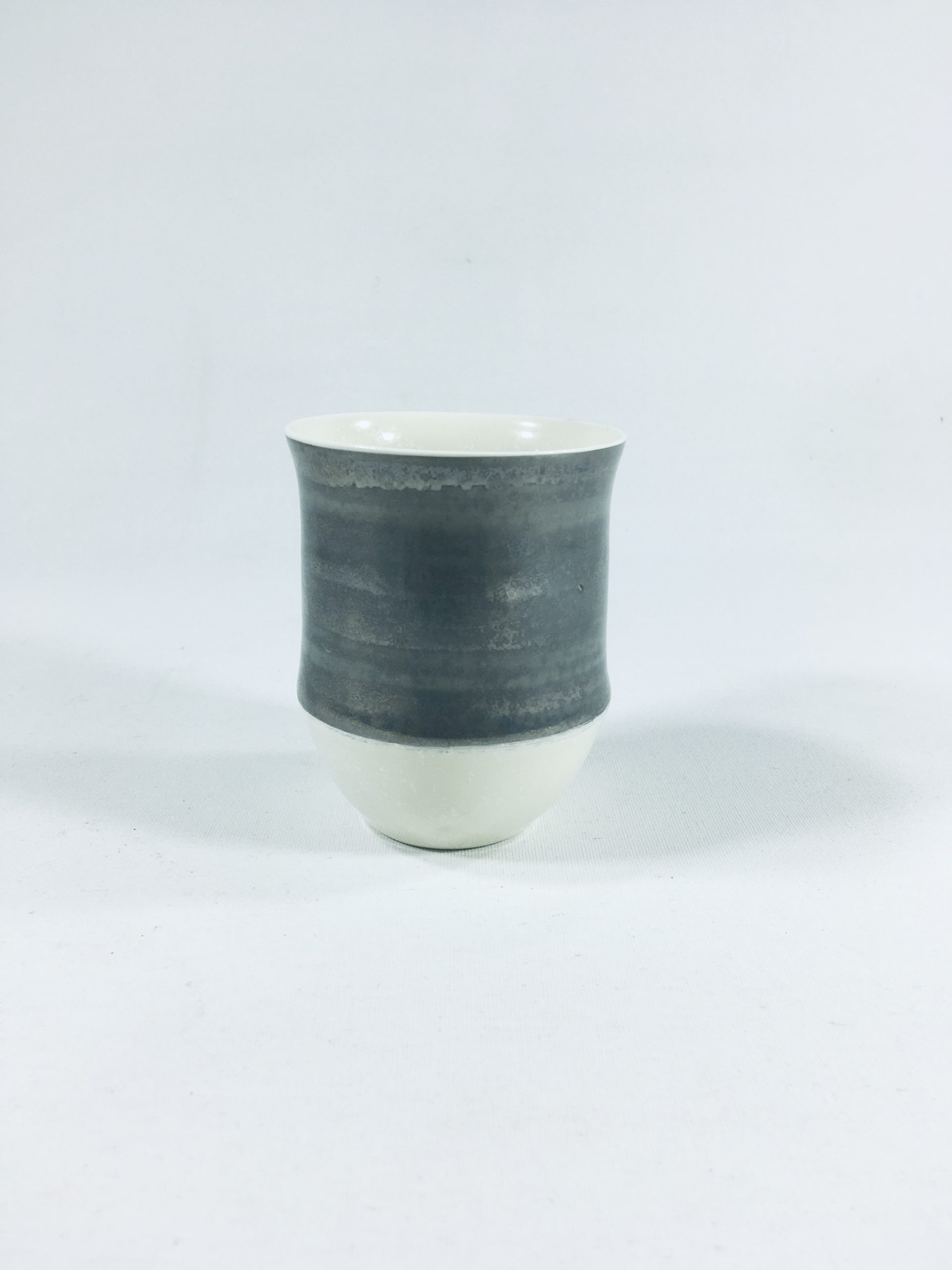 Porzellanbecher-Unikat mit breitem Silberrand II Bild 2
