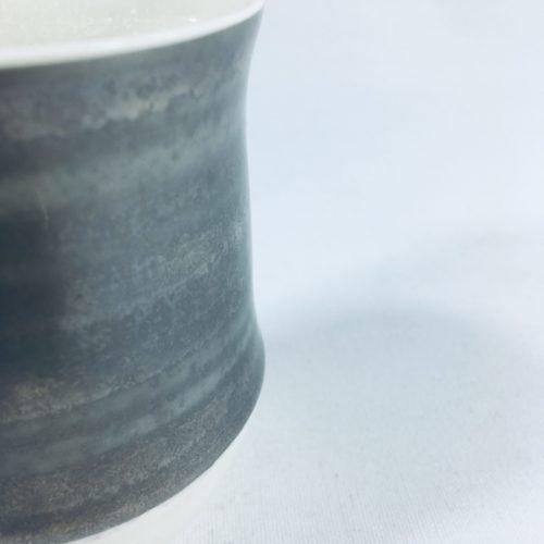 Porzellanbecher-Unikat mit breitem Silberrand II Bild 1